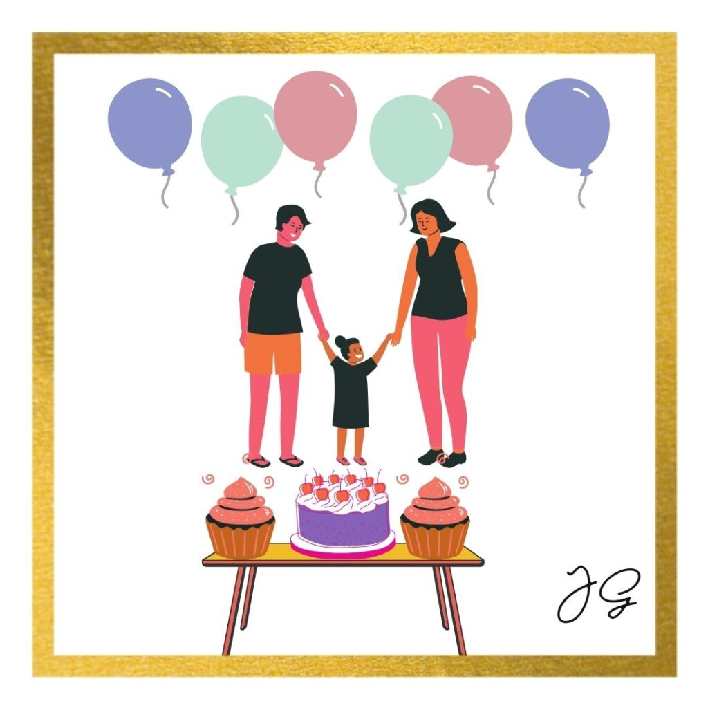 Birthday celebration for a three year old with the caption the threenager birthday moment. From a toddler to becoming a preschooler in 2020